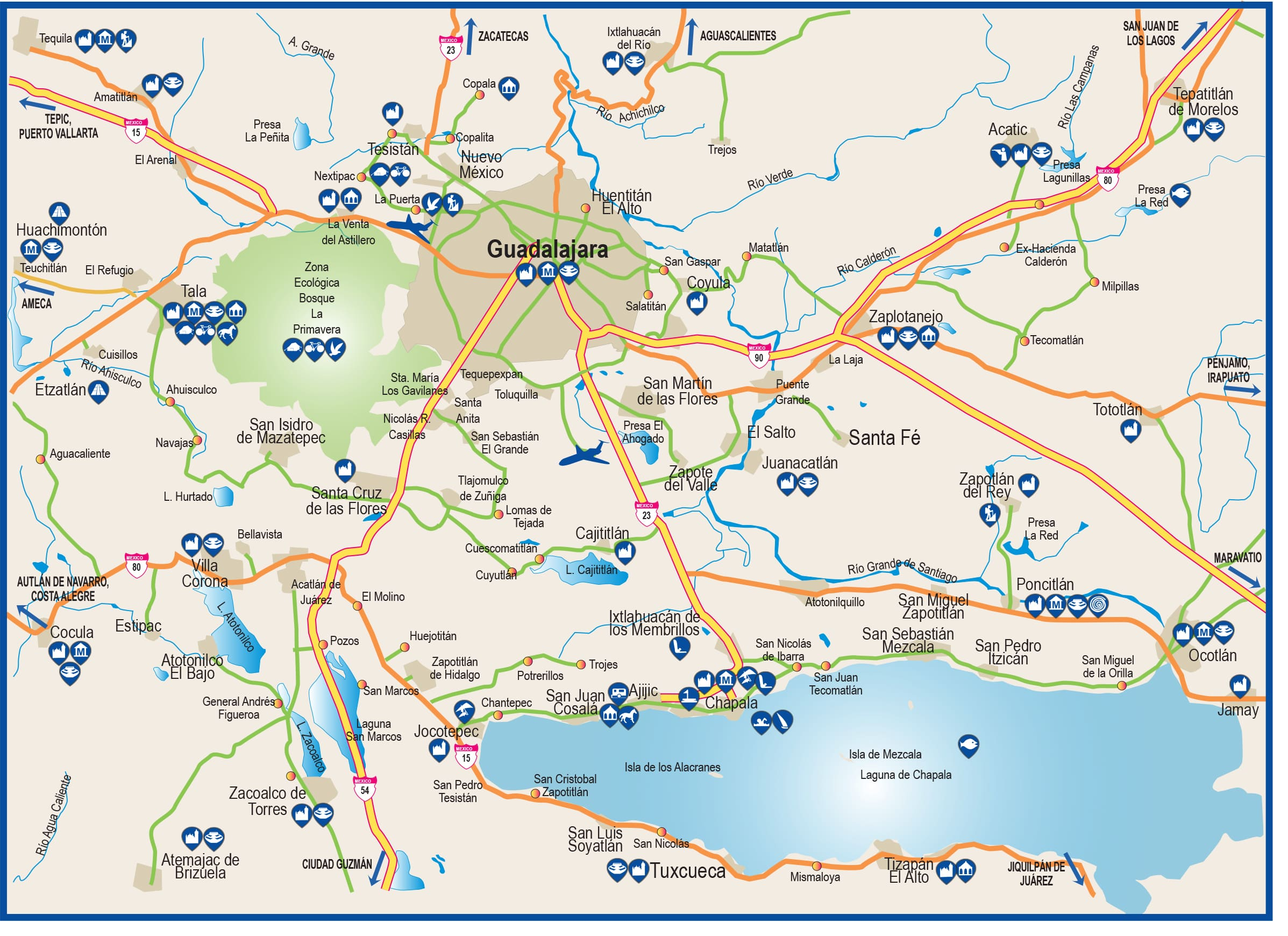 Mapa De Lo Alrededores De Monterrey Exploring Inafed Gob