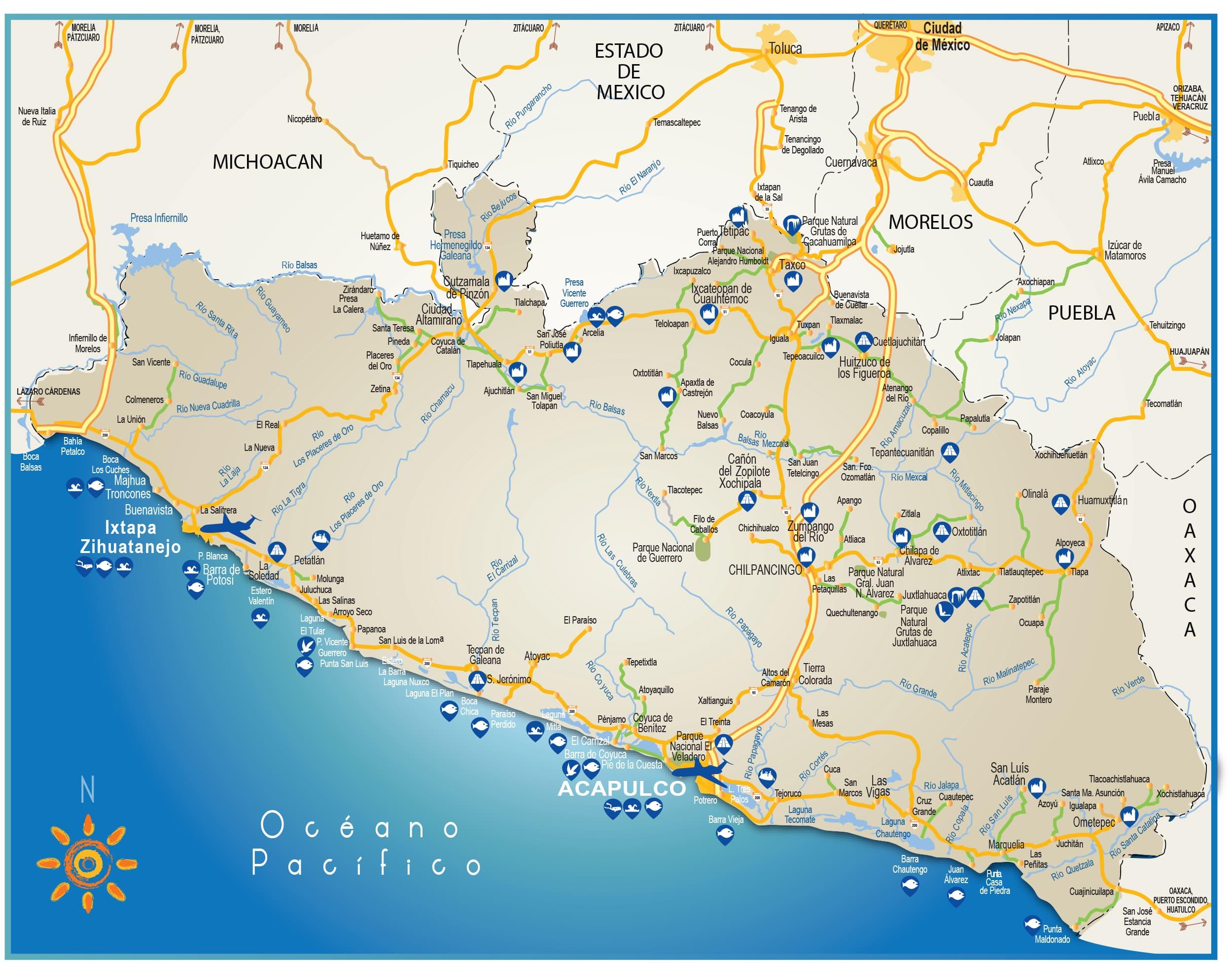 Mapas de Guerrero